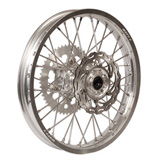 Warp 9 Complete Wheel Kit - Rear Silver Rim/Silver Hub/Silver Spokes and Nipples