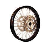 Warp 9 Complete Wheel Kit - Rear Black Rim/Silver Hub/Silver Spokes and Nipples