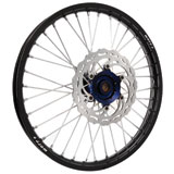 Warp 9 Complete Wheel Kit - Front Black Rim/Blue Hub/Silver Spokes and Nipples