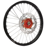 Warp 9 Complete Wheel Kit - Front Black Rim/Orange Hub/Silver Spokes and Nipples