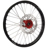 Warp 9 Complete Wheel Kit - Front Black Rim/Red Hub/Silver Spokes and Nipples