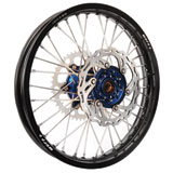 Warp 9 Complete Wheel Kit - Rear Black Rim/Blue Hub/Silver Spokes and Nipples