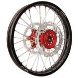 Warp 9 Complete Wheel Kit - Rear Black Rim/Red Hub/Silver Spokes and Nipples