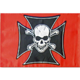 Wheeler Whips Replacement Flag Maltese Skull