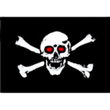 Wheeler Whips Replacement Flag Red Eye Skull