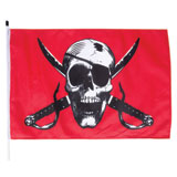 Whip-It Flags Specialty Flag - 3'x5' -  Crimson Skull