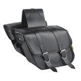 Willie & Max Compact Braided Slant Motorcycle Saddlebag