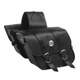 Willie & Max Deluxe Slant Motorcycle Saddlebag