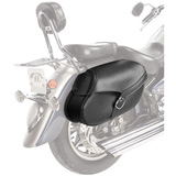 Willie & Max Synthetic Leather Hard Mount Motorcycle Saddlebag - Large