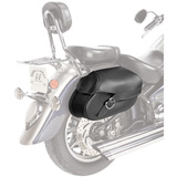 Willie & Max Synthetic Leather Hard Mount Motorcycle Saddlebag - Small