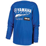 Yamaha Youth Racing GYTR Logo Long Sleeve T-Shirt Blue
