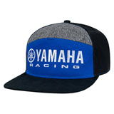 Yamaha Racing Color Block Snapback Hat Blue/Black