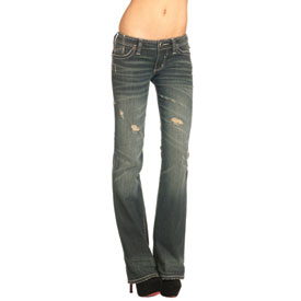 Affliction Jade Fleur Flap Stud Ladies Jeans