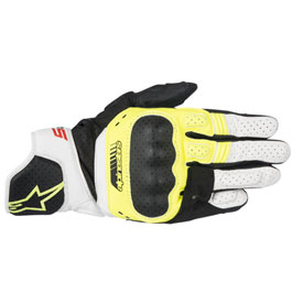 Alpinestars SP-5 Leather Gloves Small Black/Yellow/White