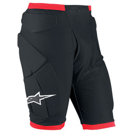 Alpinestars Comp Pro Padded Shorts Small Black/Red