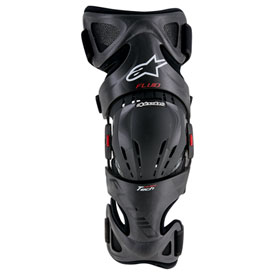 Alpinestars Fluid Tech Carbon Knee Brace Right Small/Medium/Large Anthracite/Red/White