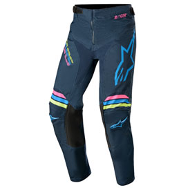 "Alpinestars Youth Racer Braap Pants 24"" Navy/Aqua/Pink Fluo"