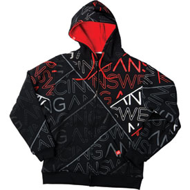 Answer Racing Segmented Zip-Up Hooded Sweatshirt