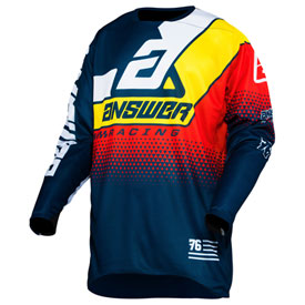 Answer Racing Elite Korza Jersey XX-Large Midnight/White/Pro Yellow/Red