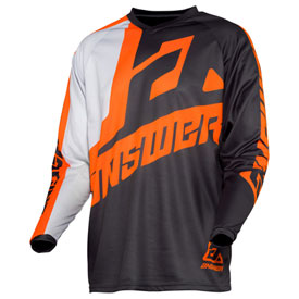 Answer Racing Youth Syncron Voyd Jersey X-Large Charcoal/Grey/Orange