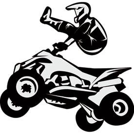 Attack Graphics Rider Decals Quad Bar Hop Dirt Bike