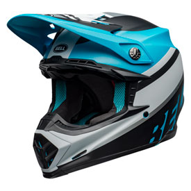 Bell Moto-9 Prophecy MIPS Helmet X-Small Matte White/Black/Blue