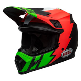 Bell MX-9 Strike MIPS Helmet X-Large Matt Inferno/Green/Black