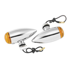Biker's Choice Smooth Bullet Marker Lights, Dual Filament