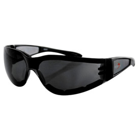 Bobster Shield 2 Sunglasses Black Frame/Smoke Lens