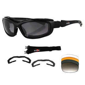 Bobster Road Hog II Convertible Sunglasses Black
