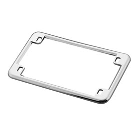 "Chris Products License Plate Frame 4"" x 7"" Chrome"