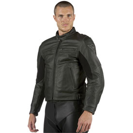 Dainese Stripes Leather Motorcycle Jacket