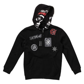DC Skully Youth Zip-Up Hooded Sweatshirt