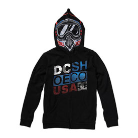 DC Moto Boy Youth Zip-Up Hooded Sweatshirt