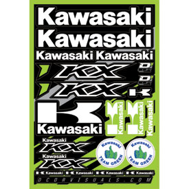 D cor visuals kawasaki decal sheet dirt bike rocky for D cor visuals