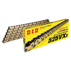 DID 525VX3 Gold X-Ring Professional Road Chain