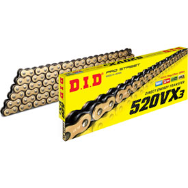 DID 520VX3 Gold X-Ring Professional Road Chain
