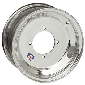 "DWT Polished Blue Label ATV Rear Wheels Rims PAIR 8/"" 8x8 3+5 4//110 4//130"