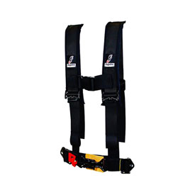 "Dragonfire Racing Youth 4-Point H-Style Safety Harness 2"" Black"