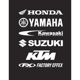 Factory Effex Die-Cut Sticker Kawasaki