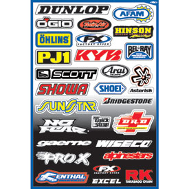 Factory Effex Sponsor Sticker Kit A-3