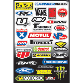Factory Effex Sponsor Sticker Kit C-3