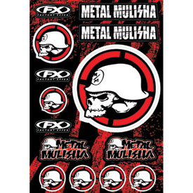 Factory Effex Metal Mulisha Sticker Sheet 2
