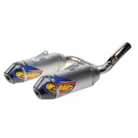 FMF Factory-4.1 RCT Dual Stainless Steel/Titanium Silencers with Carbon End Cap