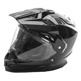 Fly Street Trekker Motorcycle Helmet Small Black