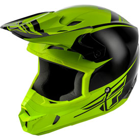 Fly Racing Kinetic Sharp Helmet XX-Large Black/Hi-Vis Yellow