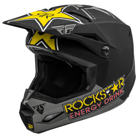 Fly Racing Kinetic Rockstar Helmet XX-Large Matte Grey/Black/Yellow