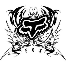 Fox Racing Brando Sticker on Motorcycle Tires