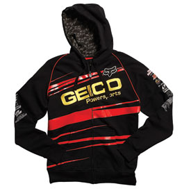 Fox Racing GEICO Factory Zip-Up Hooded Sweatshirt 2011