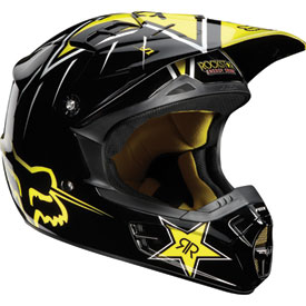 Fox Racing V1 Rockstar Helmet 2012
